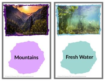 Habitats Flash Cards