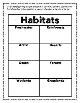 Habitats Flipbook (Two Styles)