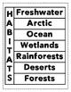 Habitats Flipbook (Two Styles)