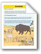 Habitats: Grasslands