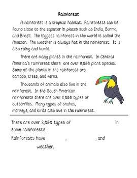 Habitats--Informational text