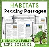 Habitats: Non-Fiction Reading Passages & Questions (NGSS 3-LS4-3)