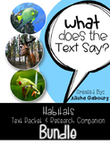 Habitats Non Fiction Reading and Research Bundle