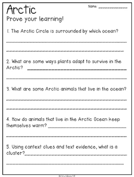 Habitats Non Fiction Text Packet [Free Sample]