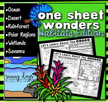Habitats One Sheet Wonder