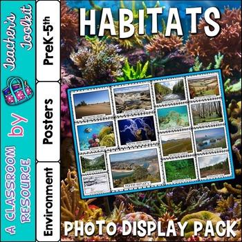 Habitats Photo Poster Display Pack {UK Teaching Resource}