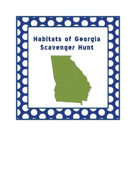 Habitats & Pollution Scavenger Hunt