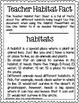 Habitats: PowerPoint