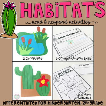 Habitats: Reading Comprehension, Writing and Craftivities