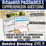 Level N Guided Reading Passages and Comprehension Questions: Habitats