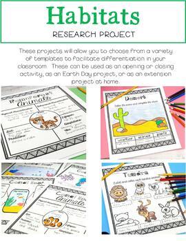 Habitats Research Project {BUNDLE}