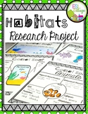 Habitats Research Project {BUNDLE}