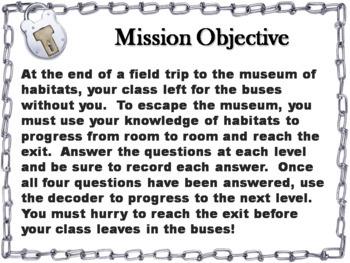 Habitats Activity: Escape Room - Science (Ecosystems Unit)