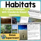 Habitats: Science Reading Comprehension Passages