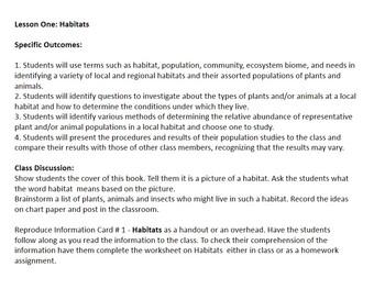 Habitats Science Unit  for Grade 4
