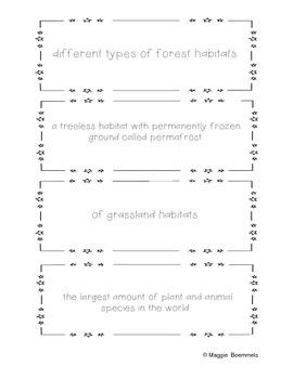 Habitats Sentence Shake Up!