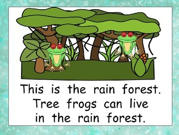 Habitats Shared Reading for Kindergarten Science
