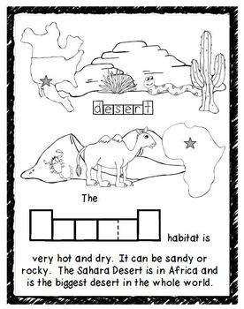 Habitats Vocabulary Book