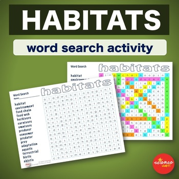 Habitats * WordSearch * Vocabulary * Warm Up * Bell Ringer *