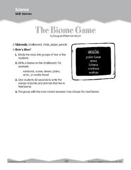 Habitats and Biomes (Ten-Minute Activities)