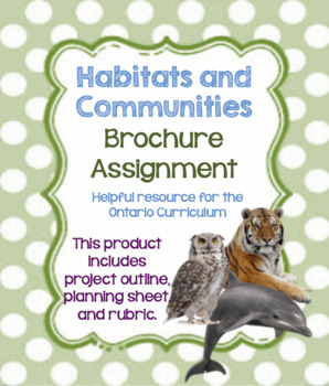 Habitats and Communities Grade 4 Final Assignment: Create a Brochure