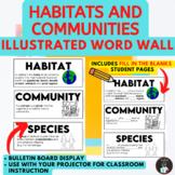 ONTARIO SCIENCE: GRADE 4 HABITATS AND COMMUNITIES ILLUSTRATED WORD WALL