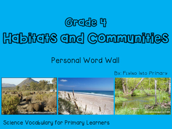Habitats and Communities - Personal Word Wall