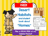 "Habitats and Homes: FREE Desert Info and ""Homes"" Student Booklet"