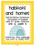 Habitats and Homes, MMH Treasures 2nd Grade, Unit 4 Week 5