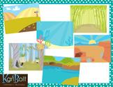 Habitats and Landscapes Clip Art Scenes