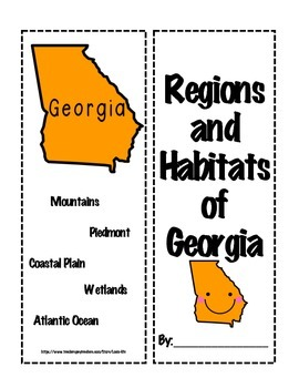 Habitats and Regions of Georgia Interactive Lapbook/Foldable w/ Teacher Guides