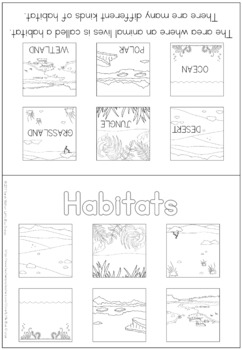 Habitats coloring booklet