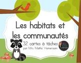 Habitats et communautés, cartes à tâches (Task Cards, Habitats and Communities)