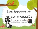 Habitats et communautés, cartes à tâches (Task Cards, Habitats and Communities)