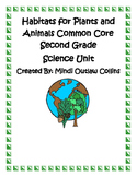 Habitats for Plants and Animals Second Grade Common Core S