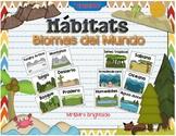 Habitats in Spanish - Biomas del mundo / hábitats de los animales
