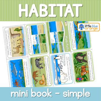 Habitats mini book (simplified version)