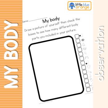 My body observation sheet