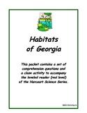 Habitats of Georgia - Harcourt leveled reader w/answer key