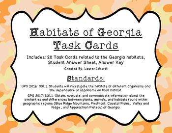 Habitats of Georgia Task Cards