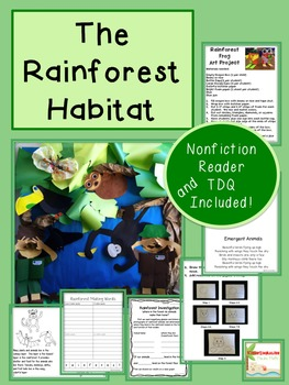 Habitats of the World Bundle- Common Core Aligned with Craftivities