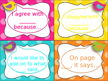 Habits of Discussion Mini Signs