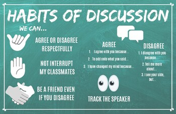 Habits of Discussion Poster