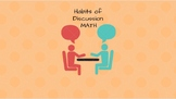 Habits of Discussions Talking Cards