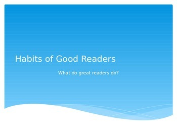 Habits of Good Readers Powerpoint