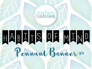 Habits of Mind Banner / Pennant