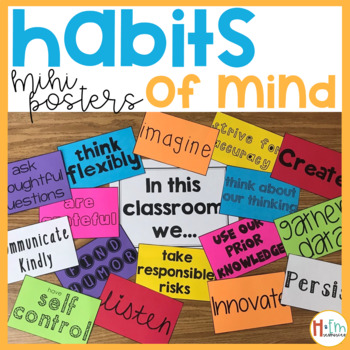 Habits of Mind Classroom Posters