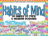 Habits of Mind Poster Set: Plain Border Version