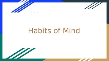 Habits of Mind PowerPoint
