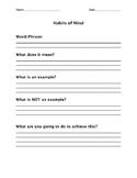 Habits of Mind Vocabulary Term